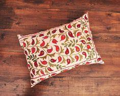 ikat fabric throw pillow ikat cushion suzani decor by DecorUZ Suzani Fabric, Velvet Upholstery Fabric, Ikat Pillows, Velvet Pillows, Designer Throw Pillows, Cushions, Handmade Pillows, Decorative Pillows, Printed Silk Fabric