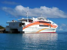 The catamaran ferry Betico II links Kuto on the Isle of Pines with Noumea, New Caledonia, South Pacific. Catamaran, South Pacific, Opera House, Building, Travel, Viajes, Buildings, Traveling, Trips