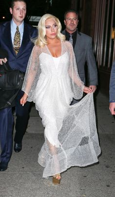 "Looking her usual glittery self, Lady Gaga was seen in New York City after her appearance on ""The Tonight Show Starring Jimmy Fallon"" on Dec. 17, 2014."