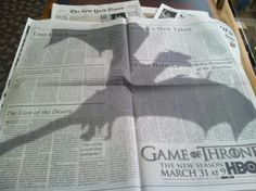Game of Throne  #marketing #ad #cool #print #dragon #series