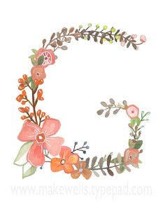 G++Floral+Print+by+Makewells+on+Etsy