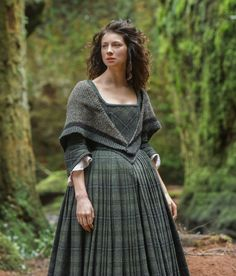 Excellent Scottish, wool, plaid dress, about, eh, well, 1800's-sometime