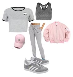 """""""Untitled #133"""" by vi-motes on Polyvore featuring WithChic, Topshop, Champion and adidas Originals"""