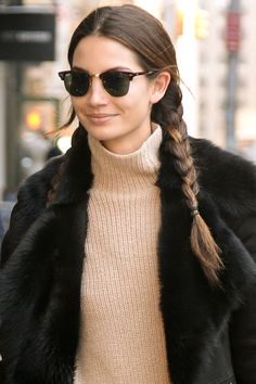 "Who: Lily Aldridge  What: Pigtail Braids Guy's Opinion: ""Pigtails say schoolgirl and schoolgirls remind us of our youth—it's every guy's fantasy.""   - HarpersBAZAAR.com"