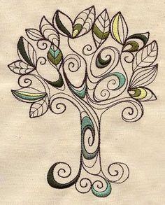 Doodle Earth Day Tree Embroidered Flour Sack Hand/Dish Towel Tangle Doodle, Doodles Zentangles, Zen Doodle, Doodle Art, Zealand Tattoo, Posca Art, Doodle Inspiration, Tree Designs, Tree Art