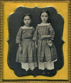 thehystericalsociety:  Sisters - c. 1870s - (Via)