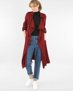 Trench fluide rouge