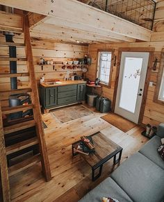 49 Creative Rustic Home Decor Ideas Tiny House Design Creative Decor Home ideas rusticwindow. Tiny Cabins, Tiny House Cabin, Cabins And Cottages, Tiny House Living, Tiny House Plans, Cabin Homes, Log Homes, Tiny Homes, Cabin With Loft