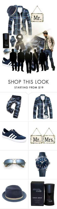 """""""Untitled #4155"""" by princhelle-mack ❤ liked on Polyvore featuring adidas, Home Decorators Collection, Ray-Ban, OMEGA, Michael Bastian, Giorgio Armani, Tom Ford, men's fashion and menswear"""