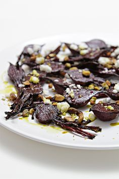 Balsamic-roasted baby beets with feta and pistachios    Food & Style