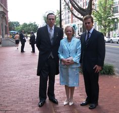 Archduchess Alexandra, Mrs Hector Riesle with her husband Hector Riesle and their son Felipe, at her nephew Imre's wedding in Washington DC.  Alexandra is one of Carl Christian's two sisters and a granddaughter of the last emperor and empress of Austria-Hungary.