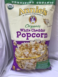 2-Pack Annie's Certified Organic Homemade White Cheddar Popcorn 14oz Jumbo Bag #AnniesHomegrown