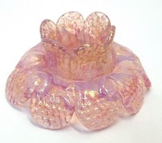 "Pink Opal Venetian Glass Chandelier Flower Prism 2.5"" Pink Opal 24K Gold Murano Flower Crystal  (1) Chandelier Lighting Supply Jewelry Mixed by donDiLights on Etsy"