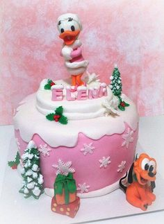 Christmas with Daisy Duck - Cake by giada