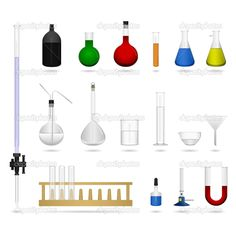 Science Equipment | Science lab laboratory equipment tool | Stock Vector © leremy ...