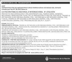 CRÓNICA FERROVIARIA: Llamado a Licitación por Renovación total infraest...