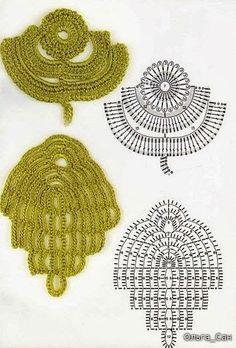 Crochet: Irish lace 2 - / crochê: renda irlandesa 2 - …