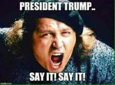 Like it or not, he is President elect ...say it, we all know it, it's ok to say it.