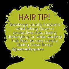 Breakage hair tip