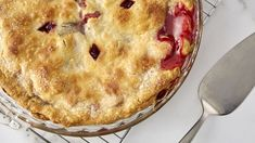 The tartness of rhubarb and tanginess of raspberries come together for a simple and simply delicious pie that can be cooling on the counter in just one hour.