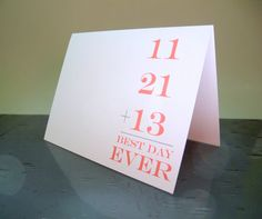 Wedding Thank You Cards - Best Day Ever - Modern Thank You Cards on Etsy, $20.00