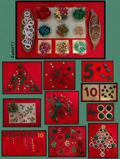 Christmas Loose Parts Play (from Stimulating Learning with Rachel)