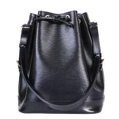 Louis Vuitton Black Epi Noe Shoulder Bag   1stdibs.com