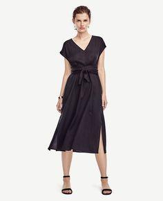 Belted Cap Sleeve Dress | Ann Taylor