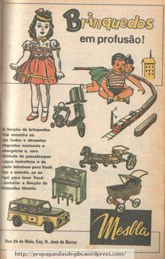 Visitar a seção de brinquedos da Mesbla devia ser um dos sonhos mais esperados das crianças em 1961. A loja de departamentos que faliu junto com o também saudoso Mappin ainda está na memória de mu…