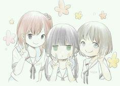 Kariu Rena, Hishiron, and Honoka