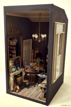 Miniature Artist's Studio - Room Box – by Studio Soo - 1/12 scale