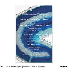"Blue Geode Wedding Programs 5.5"" X 8.5"" Flyer"