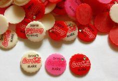 20 pcs -  Cute Coca cola bottle cap cabochon flatback decoration - size  22 mm