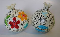 Liat Binyamini Ariel ~  Pomegranates ~  blessings and illustrations for a new year ~ 14cm tall