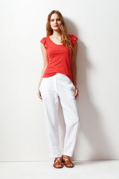 Buy Featherweight Summer Frill Top from Great Plains on The UK High Street