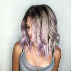 This lavender tipped hair is exactly what I need.