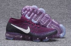 Comfortable NIKE AIR VAPORMAX FLYKNIT Purple White Men's Running Shoes Basketball Shoes