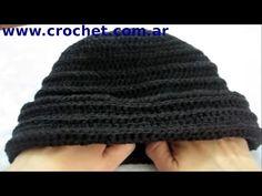 ▶ Como tejer un gorro en tejido crochet tutorial paso a paso. - YouTube