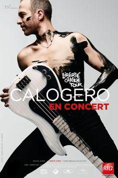 """En mars 2018, Calogero lance une tournée à travers la France et à Paris les 5 et 6 juin pour présenter son nouvel album """"Liberté Chérie"""".... #concert #artiste"""