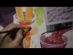 ▶ Watercolor Class Demonstration by Susan Avis Murphy -- Still Life with Beets and Carrots part 1 of 3 - YouTube