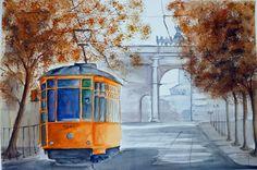 """""""l'arco della pace"""" acquerello 35x51 di Lorenza Pasquali n.d."""
