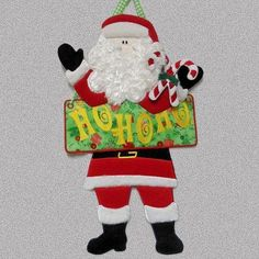 2013 Santa HoHoHo Sign - SewAZ Designs | OregonPatchWorks