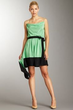 Colorblock Handkerchief Dress