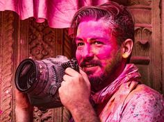 Mathura, India: Street Photography During the Holi Festival with a Fuji X-T2 and Underwater Housing. Photo: Jason Vinson