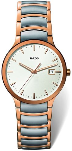 Rado Watch Centrix L #bezel-fixed #bracelet-strap-gold #brand-rado #case-material-rose-gold #case-width-38mm #date-yes #delivery-timescale-4-7-days #dial-colour-silver #gender-mens #luxury #movement-quartz-battery #official-stockist-for-rado-watches #packaging-rado-watch-packaging #style-dress #subcat-centrix #supplier-model-no-r30554103 #warranty-rado-official-2-year-guarantee #water-resistant-30m