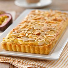 Pineapple and Passionfruit Frangipani Tart