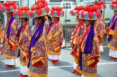Parade of Geishas - Okinawa, Japan