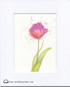 Sarah McQuilkin Illustration - Mother's Day flower tulip