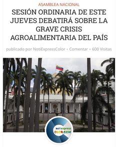 La AN debatirá la Crisis agroalimentaria de Venezuela