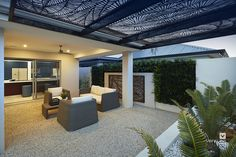Alfresco patio backyard design. The Monterey V2 display home by #VenturaHomes